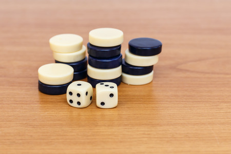 backgammon: Backgammon set with dice