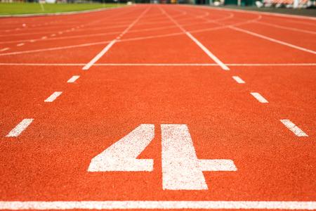Running track for athletics photo