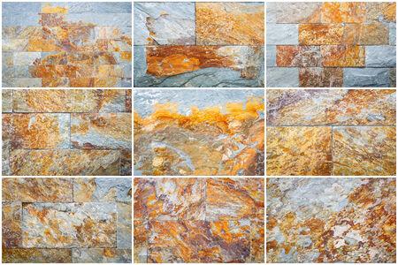 cladding tile: Set of Color slate wall texture