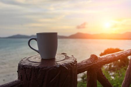 Kaffeetasse und sutset