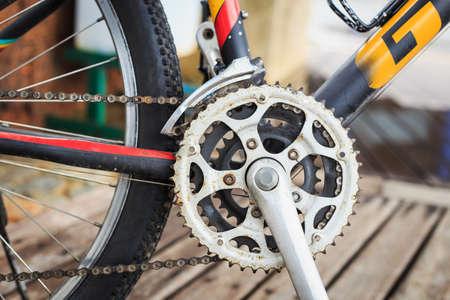 crank: bicycle crank set pedal Stock Photo