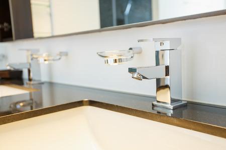 Modern bathroom faucet photo