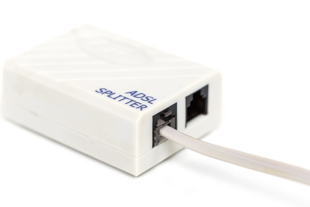 splitter: ADSL Splitter Isolated On White Background