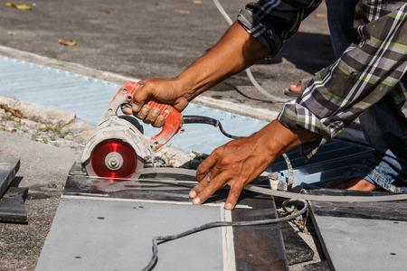 Stone cutting photo