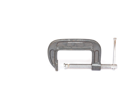 c clamp: C clamp isolated on white background