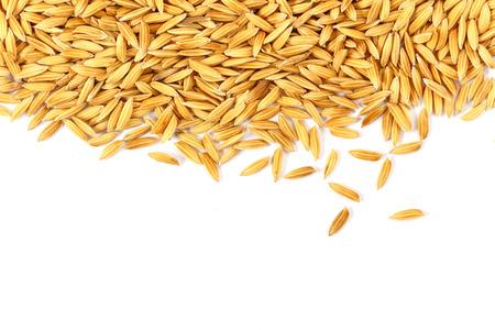 Grains de riz isolé sur fond blanc Banque d'images - 34808670