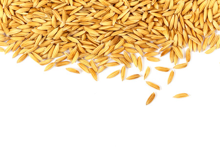 rice grains isolated on white background
