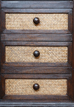 Traditional Thai style wooden drawer photo