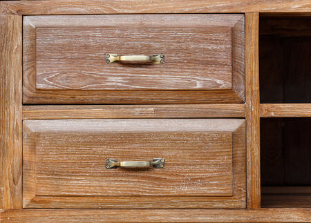 Vintage style wooden drawer photo