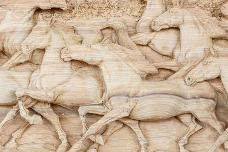 tallado en madera: De madera de estilo tradicional tailandés talla