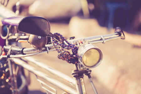Close up vintage bicycle