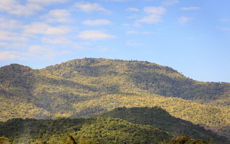 Mountain and blue sky Stock Photo