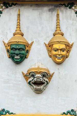 saga: Hua Khon (Thai Traditional Mask) Used in Khon - Thai traditional dance of the Ramayana Epic Saga