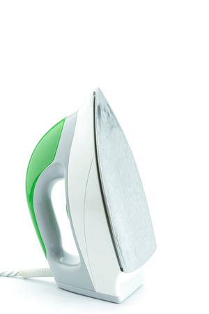 electric iron: Green Electric iron isolated on white background