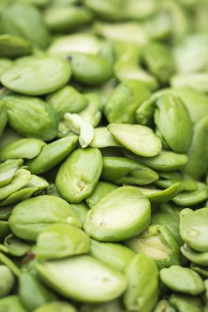 stinking: Close up Tropical stinking edible beans (Parkia Speciosa) Stock Photo
