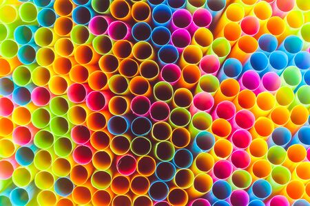 rainbow cocktail: Abstract of Colorful straw for background
