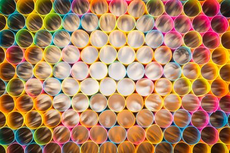 Abstract of Colorful straw for background photo