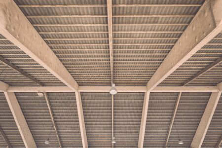 public market: Roof structure in public market in Phuket, Thailand