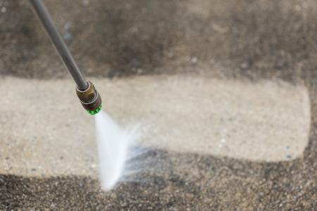 energia electrica: Cierre de la limpieza del suelo al aire libre con chorros de agua a alta presi�n
