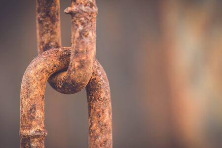 rusty chain: Macro Old and rusty chain
