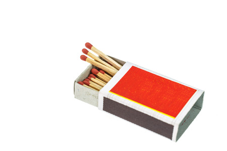 match box: Match in box isolated on the white background