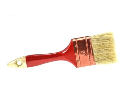 redecorate: Paint brush isolated on a white background
