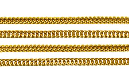gold key: Gold necklace isolated on white background