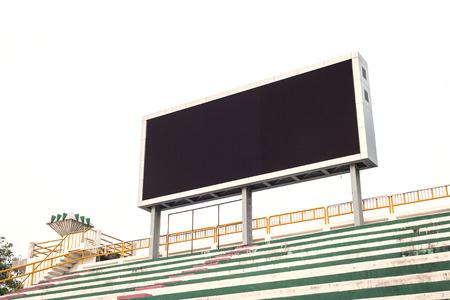 Leere weiße Billboard Digital-Schirm für die Werbung im Stadion