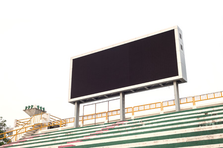 Lege witte digitale billboard scherm voor reclame in het stadion