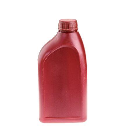 Plastic bottle isolated on white background photo