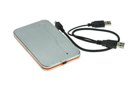 external hard disk drive: External hard disk drive isolated on white background