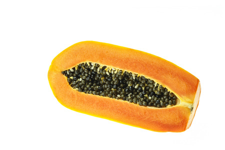 grope: Thai papaya isolated on white background