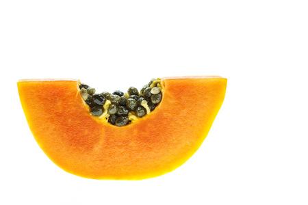 cranny: Thai papaya isolated on white background