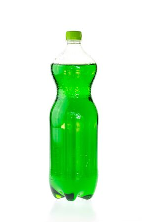 fizzy: Fizzy drink in a plastic bottle isolated on white background
