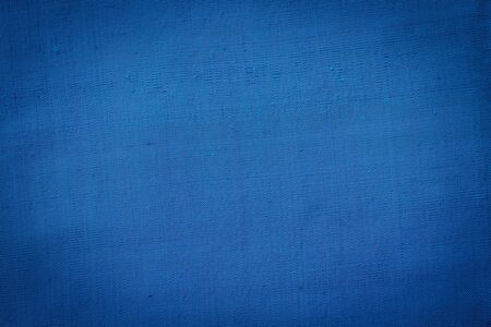 blue texture: Close up Thai style handcrafted textile made by silk from northeast, Thailand Stock Photo