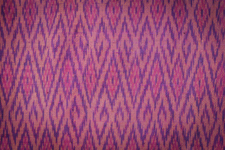 northeast: Close up Thai style handcrafted textile made by silk from northeast, Thailand Stock Photo