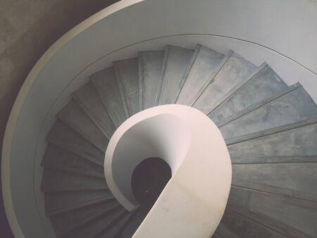 espiral: Dentro de escalera de caracol de diseño de hormigón
