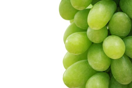 bunch up: Close up Bunch of fresh green grapes isolated on white background Stock Photo