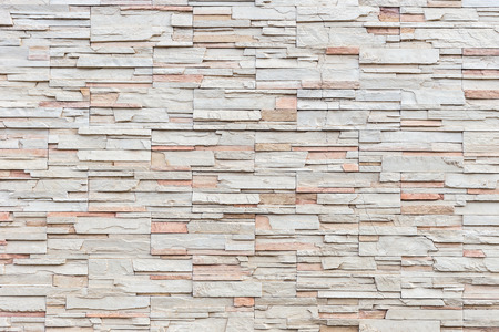 Close up Pattern of travertine natural stone wall texture and background Banco de Imagens