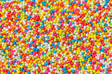 hundreds and thousands: Macro pattern colorful sugar for texture and background