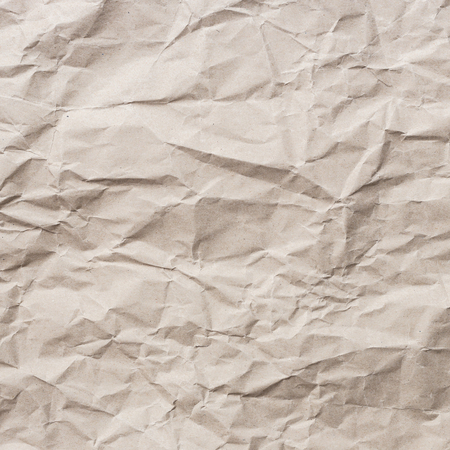 crumpled paper texture: Close up brown crumpled paper texture and background