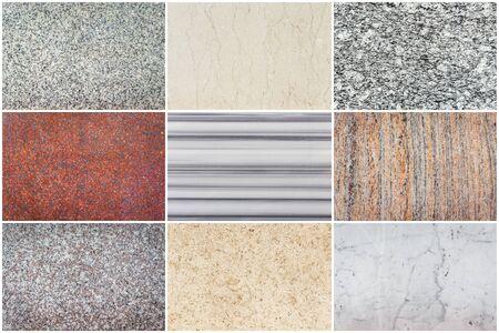 Conjunto de la textura de la piedra natural para el fondo Foto de archivo