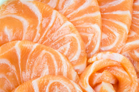 red salmon: Close up fresh red salmon texture Stock Photo