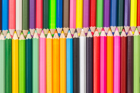 color: Close up pattern colour pencils texture and background