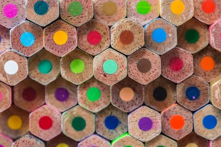 colour pencils: Close up pattern colour pencils texture and background