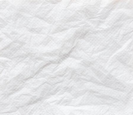 crumpled tissue: Close up white crumpled tissue paper background texture Stock Photo