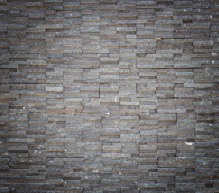 Pattern black granite stone wall texture and background Stockfoto