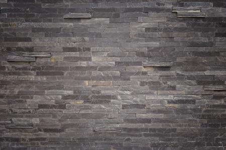 piso piedra: Patrón de negro textura de la pared de pizarra y de fondo Foto de archivo