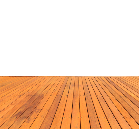 decking: Close up wooden decking and flooring isolated on white background