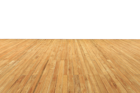 teak: Close up wooden decking and flooring isolated on white background